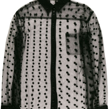 Haider Ackermann Embroidered Dot Sheer Shirt - Farfetch