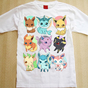 All Eeveelutions t-shirt - Pokemon !