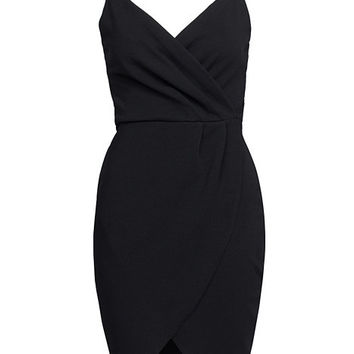 Wrap Over Crepe Dress, NLY One
