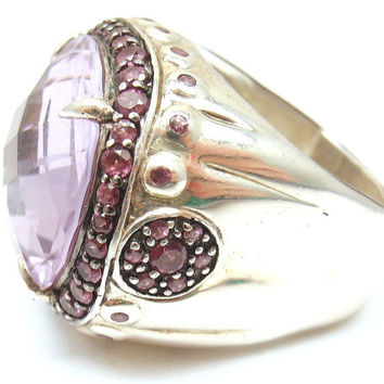 john hardy sterling silver bamboo collection amethyst dome ring