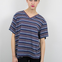 Vintage Striped Grunge Boxy T shirt
