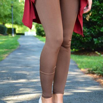 All Day Every Day leggings, brown