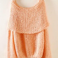 Dew shoulder neck a word sweater from Fanewant