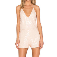 Motel Vanille Playsuit in Antique Gold Sequin