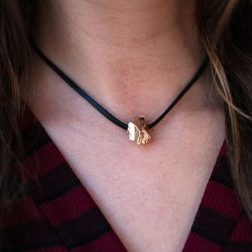 Golden Nugget Simple Choker Necklace
