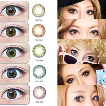 GEO Tri Color World Series Circle Lenses Colored Contacts Cosmetic Color Circle Lens | EyeCandy's