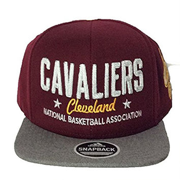 "Cleveland Cavaliers Adidas NBA Maroon Alternate ""Cavaliers Cleveland National Basketball Association"" Snapback Adult Hat (One Size)"