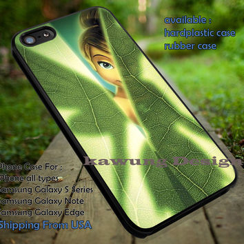 Behind The Leaf | Tinker Bell | Disney Princess | case/cover for iPhone 4/4s/5/5c/6/6+/6s/6s+ Samsung Galaxy S4/S5/S6/Edge/Edge+ NOTE 3/4/5 #cartoon #disney #animated #tinkerbell #comic ii