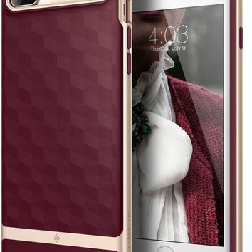 VONEXO9 Caseology Parallax Series iPhone 7 Plus / 8 Plus Cover Case with Design Slim Protective for Apple iPhone 7 Plus (2016) / iPhone 8 Plus (2017) - Burgundy
