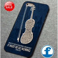 BBC Sherlock violin Inspired Quote  for iphone, ipod, samsung galaxy, HTC and Nexus PHONE CASE