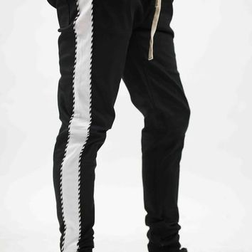 Twill Striped Ankle Joggers