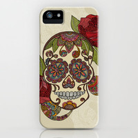 Sugar Skull iPhone & iPod Case by Valentina