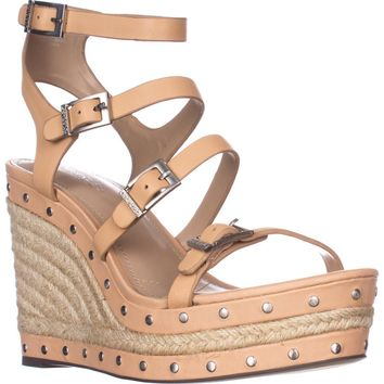 Charles by Charles David Larissa Wedge Sandals, Nude, 9.5 US