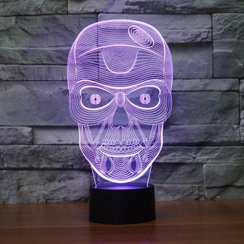 Skull Acrylic 7 Colors Desk Lamp 3D Lamp Novelty Led Night Light Millennium Falcon Light