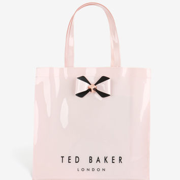 TED BAKER Large Pink Icon Bowicon Tote Bag