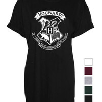 Hogwarts harry potter unisex womens mens ladies print Tshirt crest fan art | eBay