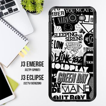 The Xx Coldplay Arctic Monkeys The Neighbourhood Sleeping With Sirens The 1975 Band Z0252 Samsung Galaxy J3 Emerge, J3 Eclipse , Amp Prime 2, Express Prime 2 2017 SM J327 Case