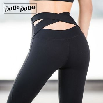 Tights Leggins Women Fitness Sport Leggings For Sportswear Woman Gym Yoga Pants Outfit High Waist Cross Female Sports Wear