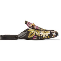 Gucci - Princetown horsebit-detailed jacquard slippers