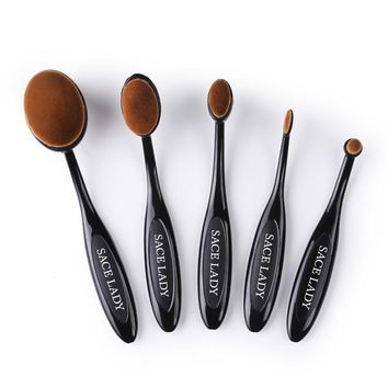 LADY Makeup Brushes Set Foundation and Toothbrush Highlighter