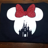 Minnie Mouse T-shirt or Tank Top / Cute / Disney Tees / Mickey and Minnie / Disney World / Vacation / kids Shirts / Custom / Glitter