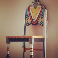 Yazhi Navajo Painted Chair