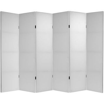 Oriental Furniture CV-6BLANK-6P Six Ft. Tall Do It Yourself Canvas Room Divider Six Panel, Width - 15.75 Inches