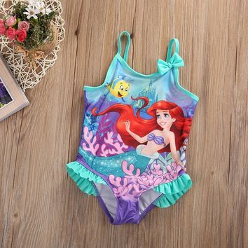 Girls Little Mermaid Swimsuit