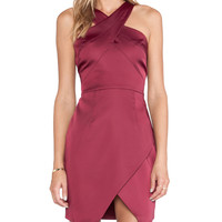 Style Stalker Lean on Me Dress in Burgundy