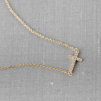 SERAPHINA CRYSTAL CROSS NECKLACE