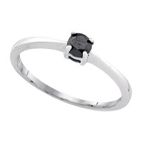 Diamond Ring in 10k White Gold 0.25 ctw