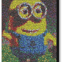 Framed Despicable Me 2 Minion Dave M&Ms Candy incredible Mosaic Print COA