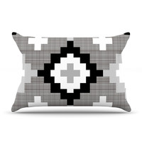 "Pellerina Design ""Linen Moroccan"" Grey Geometric Pillow Sham"
