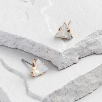 Triangle Opal Stud Earrings