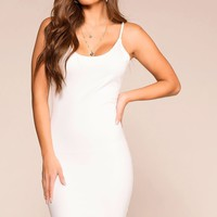 Out All Night White Bodycon Dress