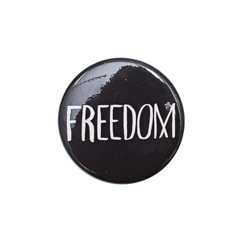 Freedom Black Button