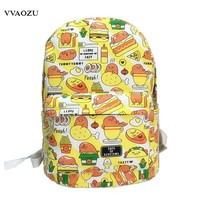 Japan Cartoon Gudetama Harajuku Backpack Funny Lazy Egg Yolk Canvas Rucksack Boys Girls Travel School Shoulder Bag Bagpack