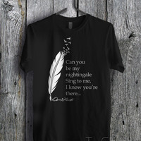 Demi Lovato Lyric Nightingale  - zzz Unisex Tees For Man And Woman / T-Shirts / Custom T-Shirts / Tee / T-Shirt