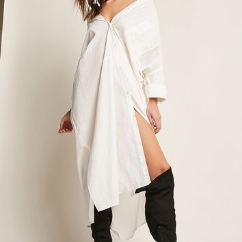 Oversized Button-Front Dress