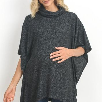 Turtle Neck Knit Maternity Cape