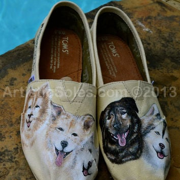 Sled Dog Custom TOMS Shoes - IV