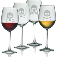 Skull & Crossbones Wine Glasses