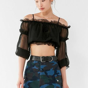 BDG Overdyed Camo Mini Skirt | Urban Outfitters