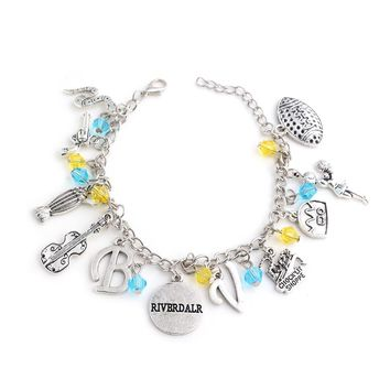 "Riverdale Bracelet beads snake guitar gun Pendant Bracelets for Women Music Hamilton Broadway Musical ""Rise up""Bangles Jewelry"