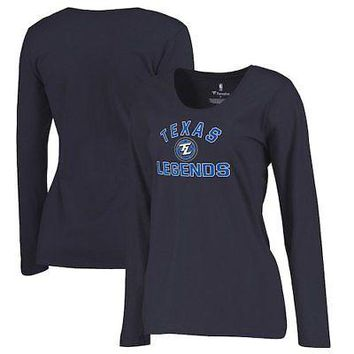 Licensed Sports Texas Legends Fanatics Branded Women's Overtime Plus-Size Long Sleeve T-Shirt - KO_20_2