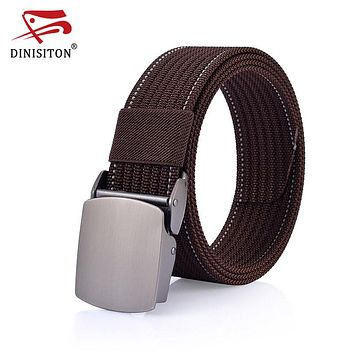 New Arrival Men's Belt Canvas Strap Automatic Buckle Army Tactical Military Nylon Belts For Man High Quality