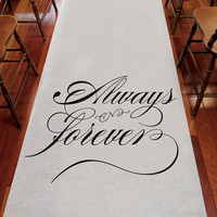 """Always & Forever"" Wedding Aisle Runner - The Knot Shop"