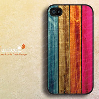 Black iphone 4 case, iphone 4s case, iphone case 4,black iphone Verizon Sprint case colorize wood  texture  style unique Iphone case B001
