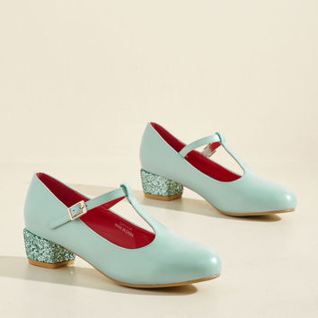 That Certain Sparkle Heel in Sky | Mod Retro Vintage Heels | ModCloth.com