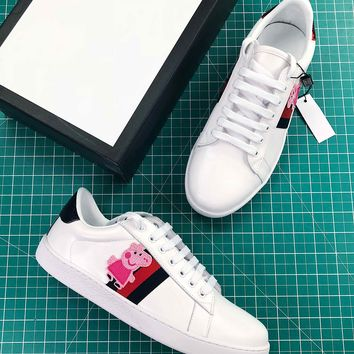 Peppa Pig X Gucci Ace Embroidered Low Top Sneaker - Best Online Sale